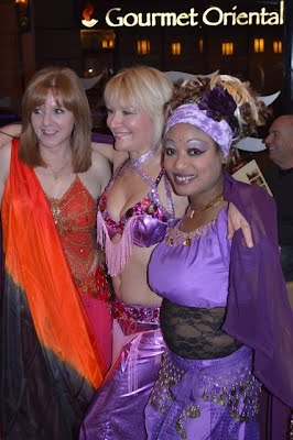 Catherine with hair extensions, Tina with Sari, Debbie