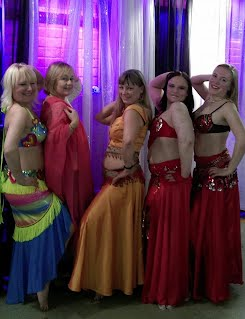 GPCA 5 Belly Dancers Rainbow Costume